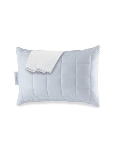 Penelope Anti Alerjik Yastık Seti - Thermoclean Yastık 50x70 & Nomite Yastık Alezi 50x70 Beyaz